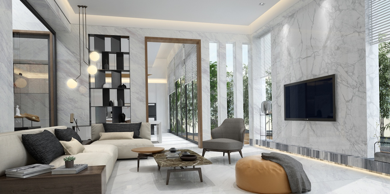 Mesh Porcelain Slab And Tile Collections In Toronto Home